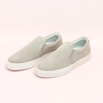 Women's Grey Slip-On Sneaker Women's - Slip-On Women's Sneakers