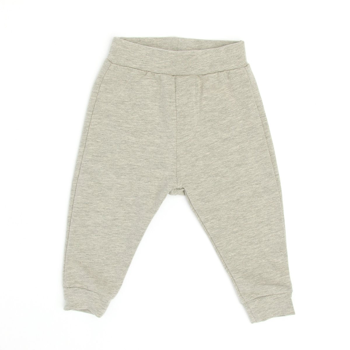 Heather Gray Banded Bottom Jogger
