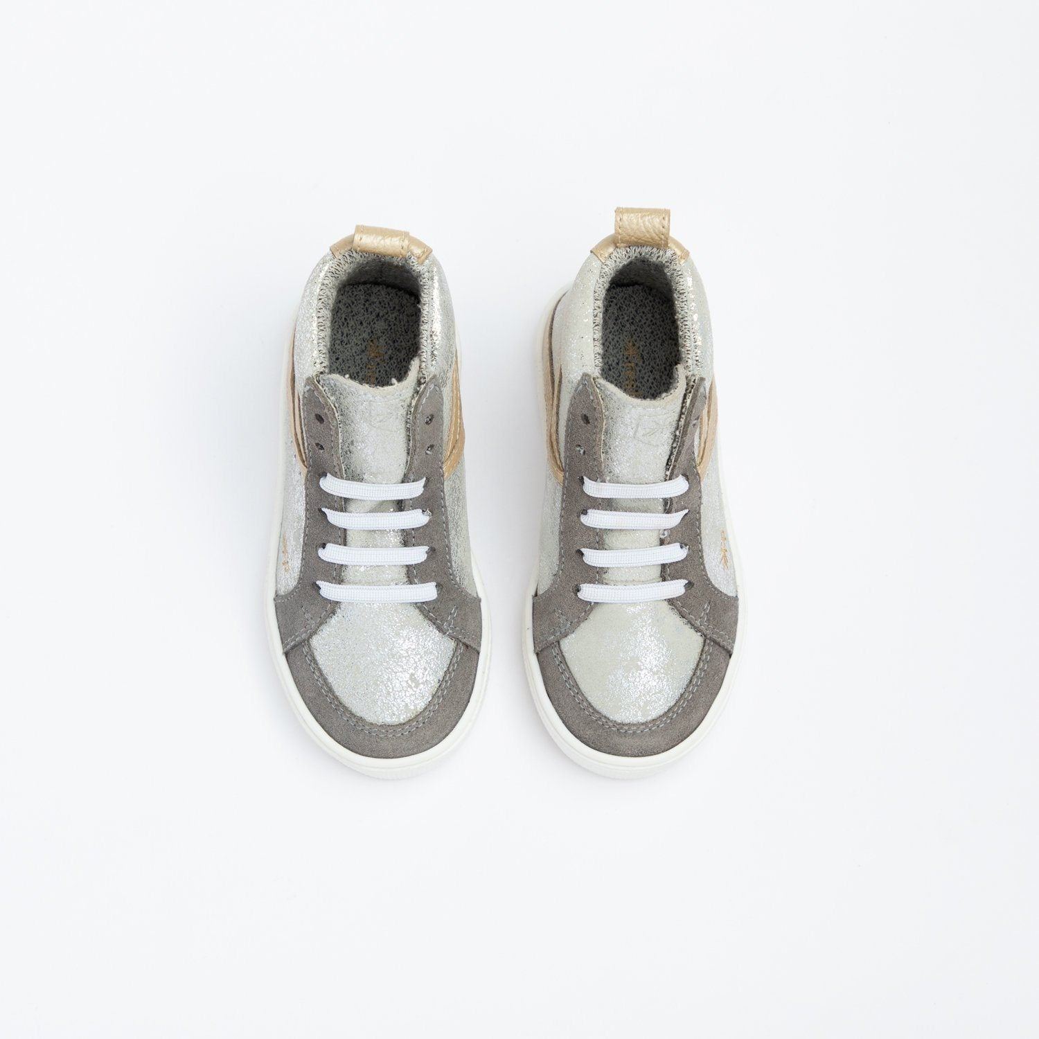 Gray Metallic High Top Sneaker