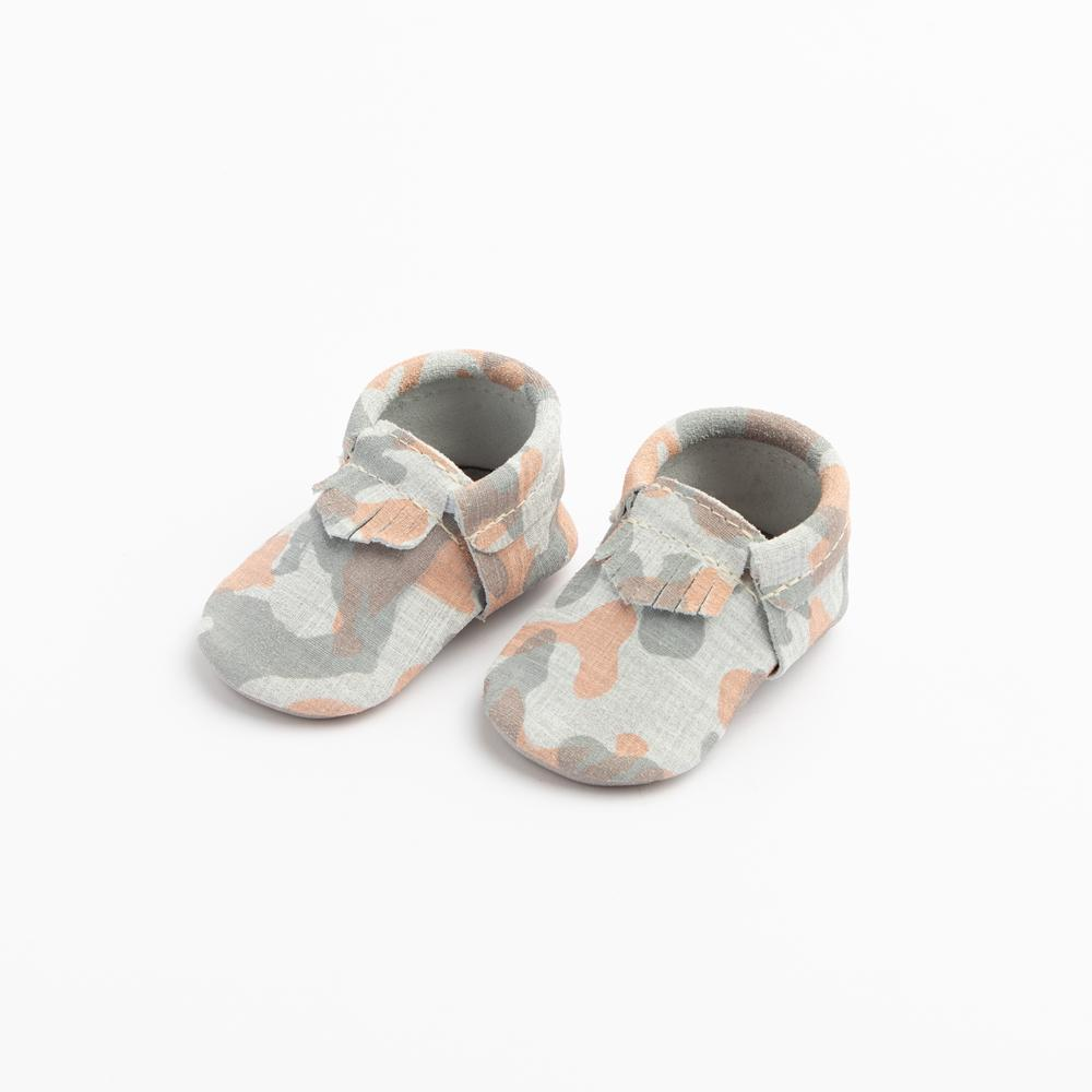 Grey and Orange Camo City Mocc City Moccs Soft Soles