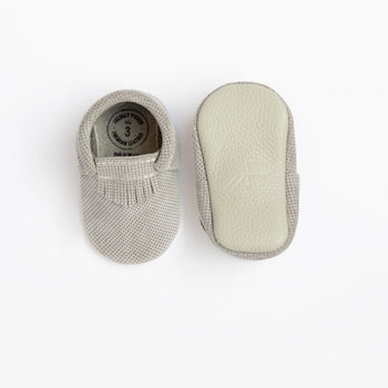Grey Perforated Suede City Mocc