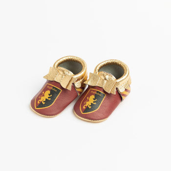 Gryffindor Bow Mocc Bow Moccasins Soft Soles