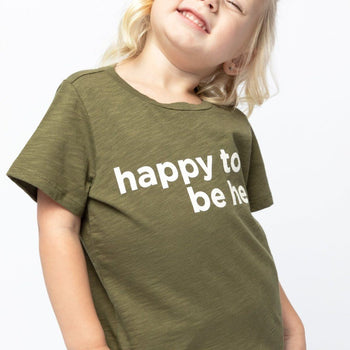 Happy to be Here Short Sleeve Graphic Tee Kids - Short Sleeve Graphic Tee Kids Clothing