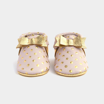 Heirloom Blush & Gold Bow Mocc | Pre-Order