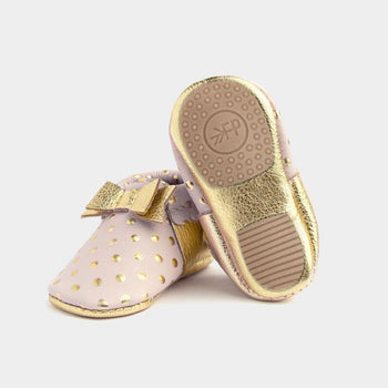 Heirloom Blush & Gold Bow Mocc Mini Sole