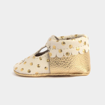 Heirloom Cream & Gold Mary Jane Mary Janes Soft Soles