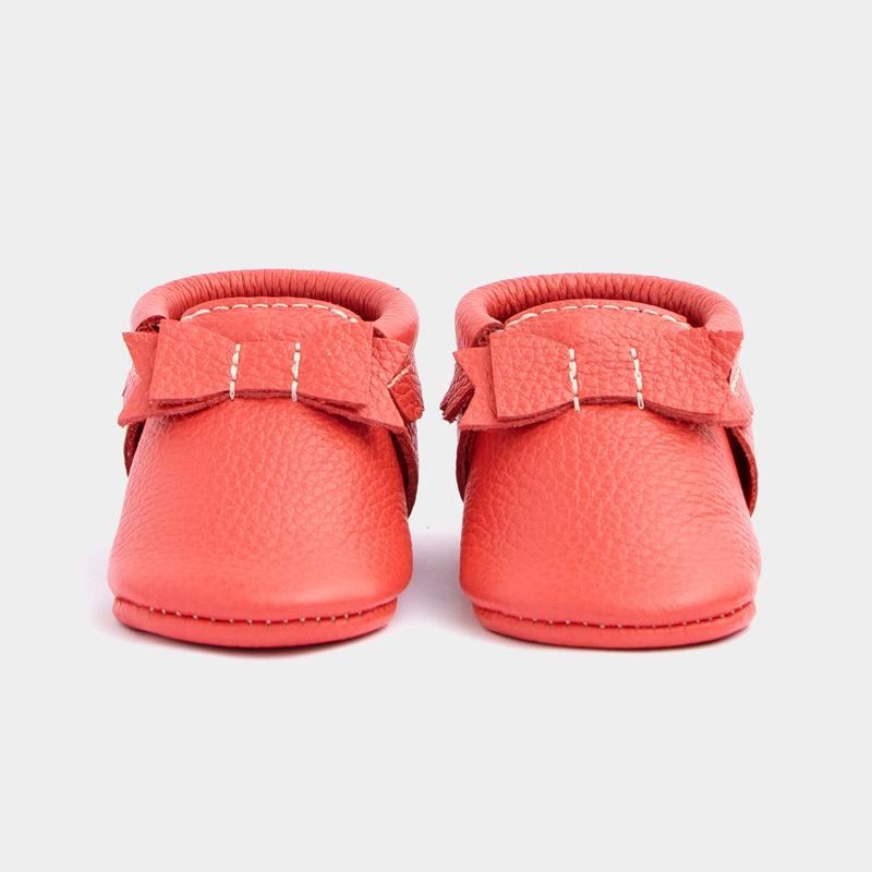 Hibiscus Bow Mocc Bow Moccasins Soft Soles