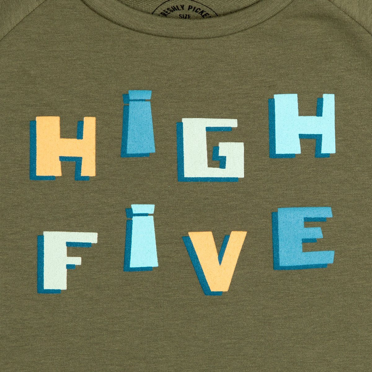 High Five Crew Sweatshirt Kids - Crew Sweatshirt Kids Clothing