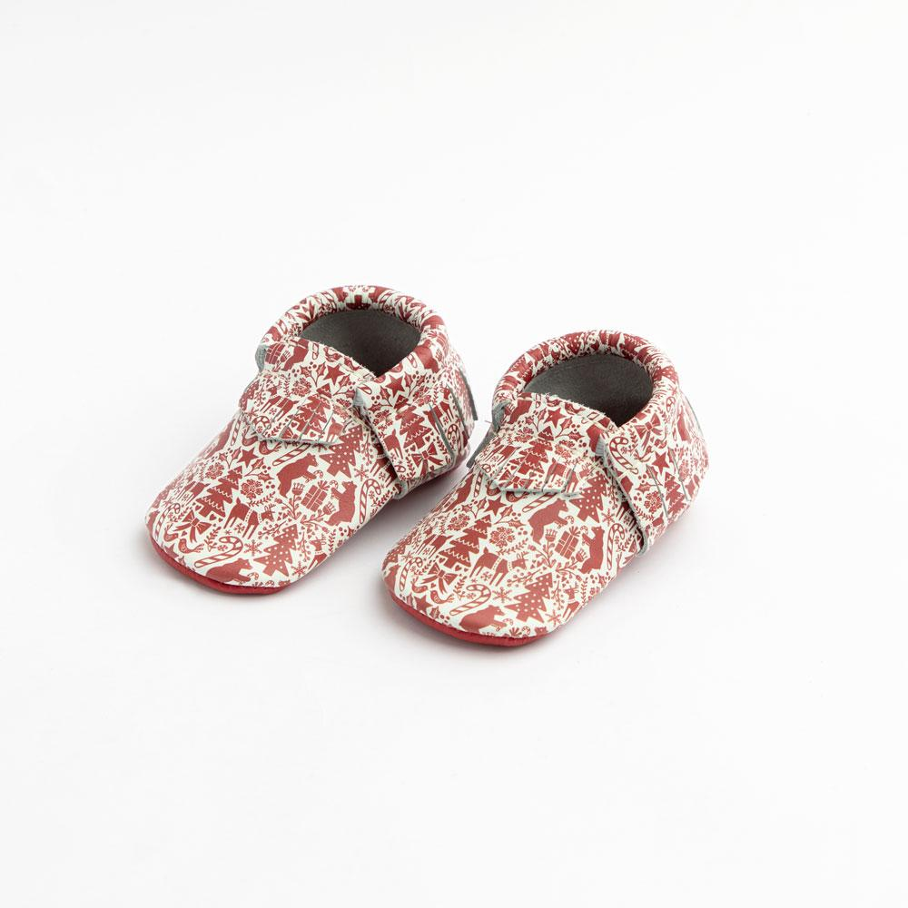 Holiday Cheer Moccasins Soft Soles