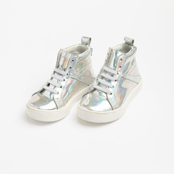 Holographic High Top Sneaker Kids - High Top Sneaker Kids Sneakers