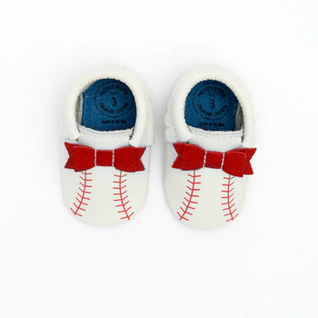 Home Run Bow Mocc Bow Moccasins Soft Soles