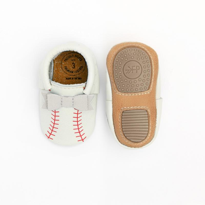 First Pitch Bow Mocc Mini Sole Mini Sole Bow Moccasin Mini soles
