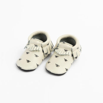 Honey Bee Moccasins Soft Soles