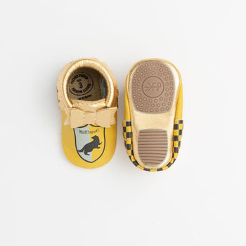 Hufflepuff Bow Mocc Mini Sole Mini Sole Bow Moccasin mini soles