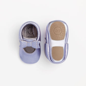 Iced Lavender Ballet Flat Bow Mocc Mini Sole