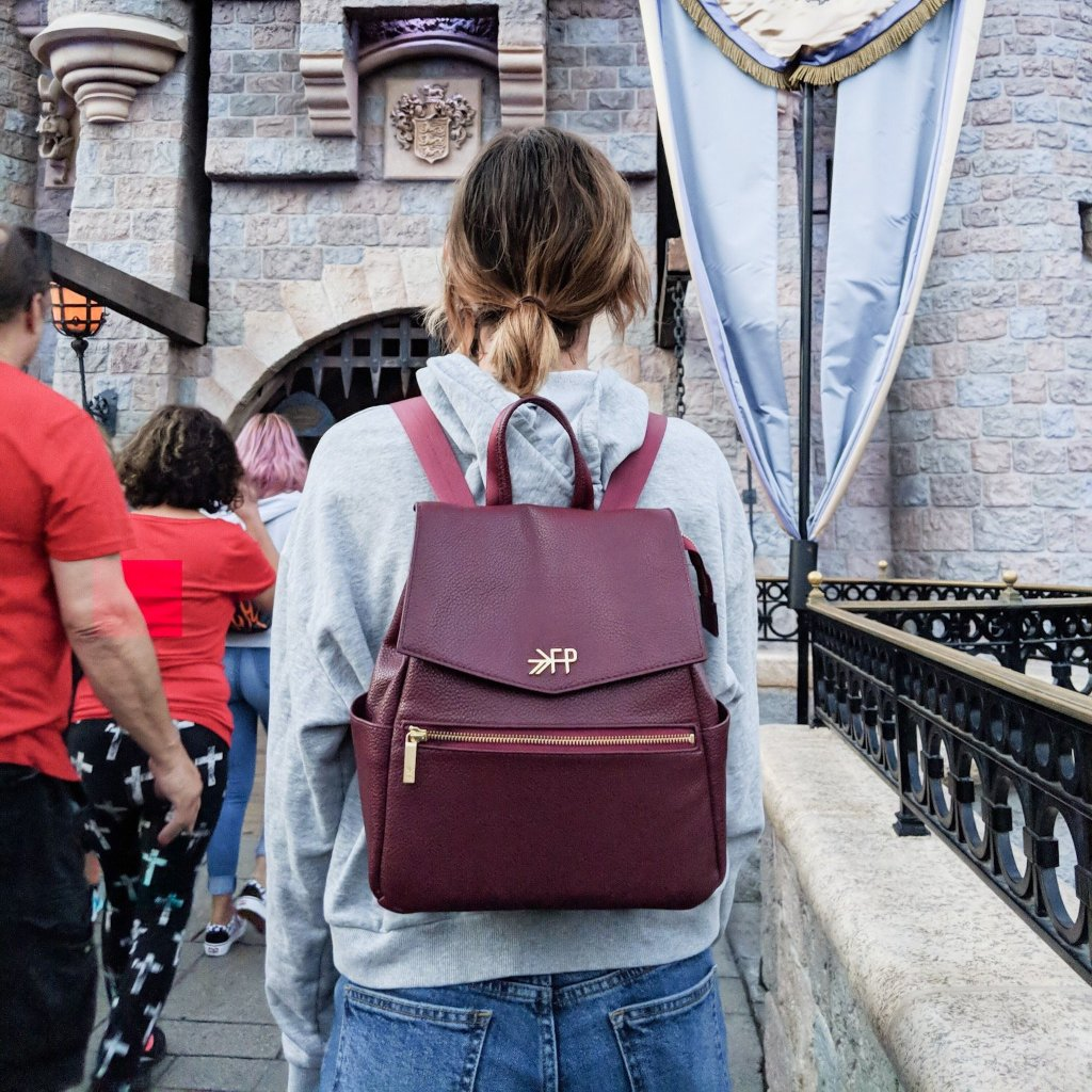 Burgundy Mini Classic Bag