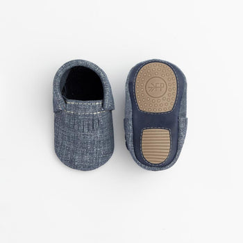 Indigo Denim City Mocc Mini Sole
