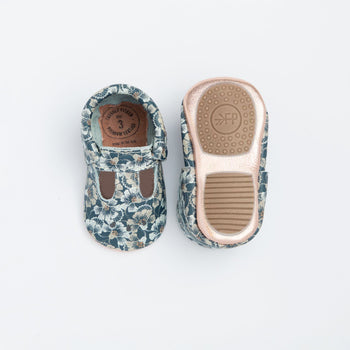 Indigo Floral Mary Jane Mini Sole