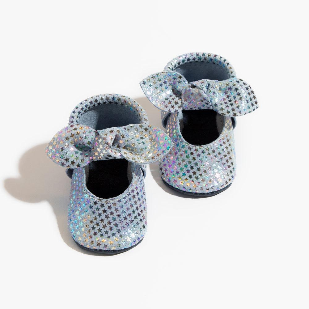 Iridescent Stars Knotted Bow Mocc knotted bow mocc Soft Soles