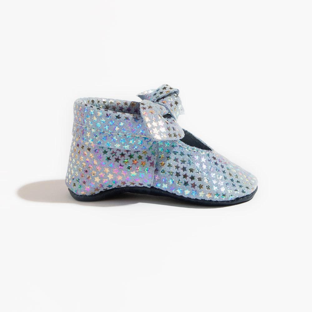 Iridescent Stars Knotted Bow Mocc Mini Sole mini sole knotted bow mocc mini sole