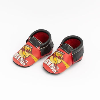 Marvel Iron Man Moccasins Soft Soles