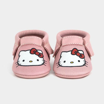 Kitty White Moccasins Soft Soles