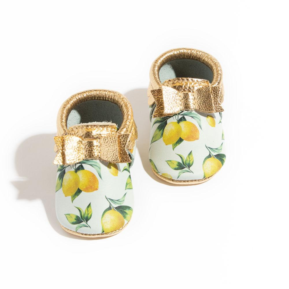 Lemonade Bow Mocc Mini Sole Mini Sole Bow Moccasin Mini soles