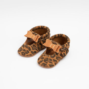 Leopard with Cedar Ballet Flat Bow Mocc