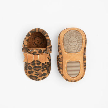 Leopard with Cedar Bow Mocc Mini Sole