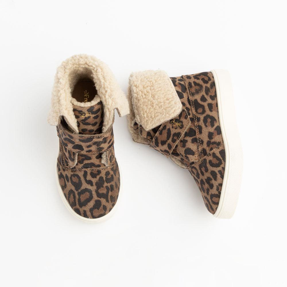 Leopard Sherpa Boot Kids - Sherpa boot Kids Sneakers