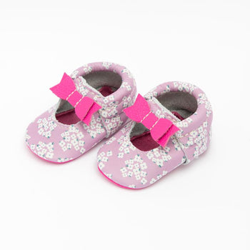 Lilac Baby's Breath Ballet Flat Bow Mocc