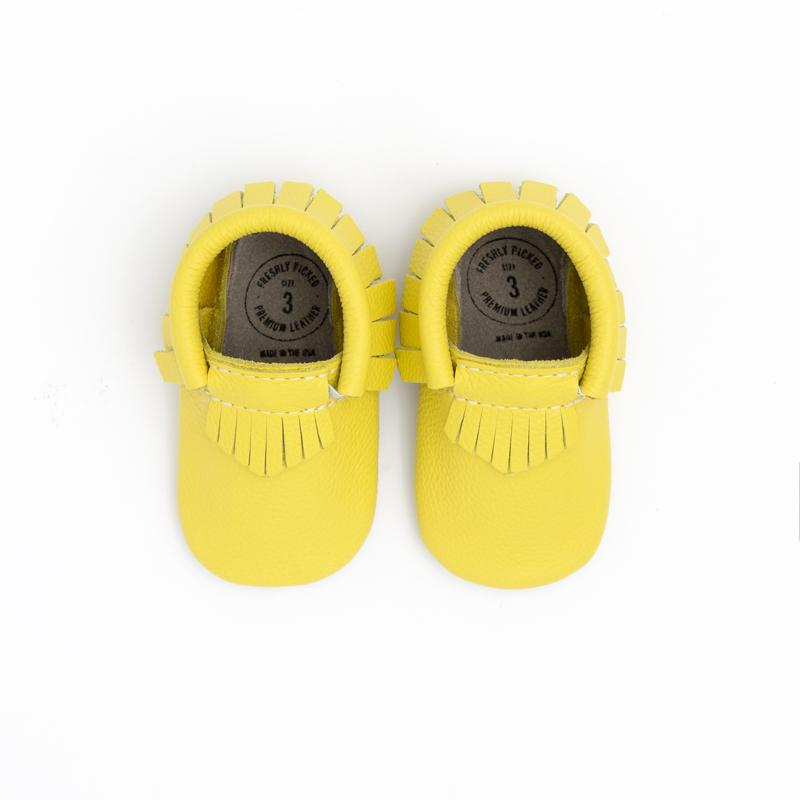 Lime Moccasins Soft Soles