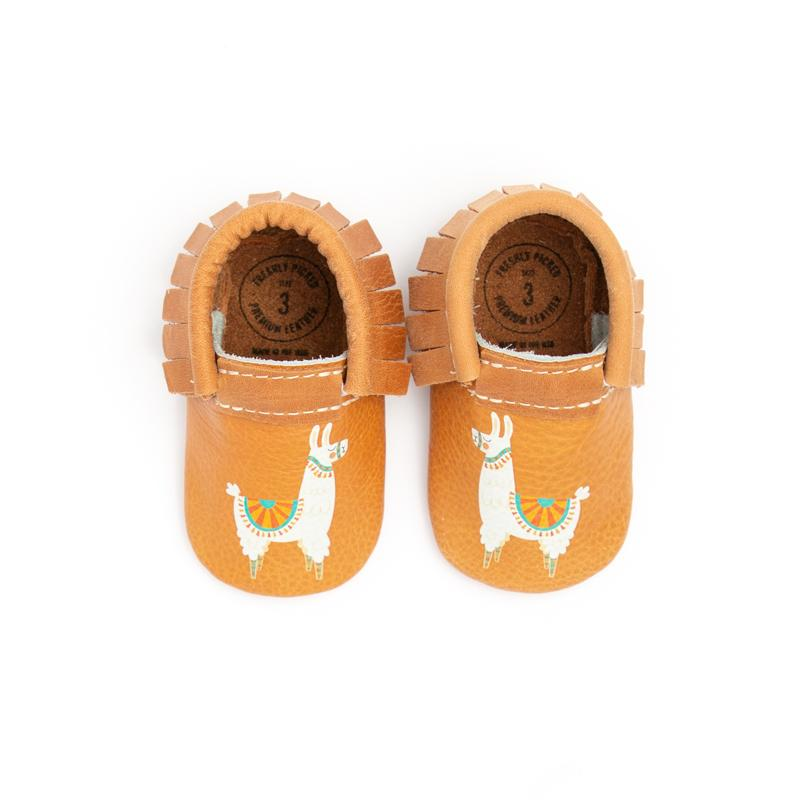Llamas on Your Toes Moccasins Soft Soles