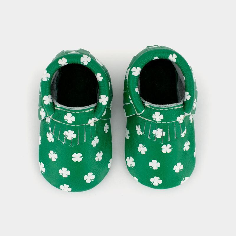 Newborn Luck of the Irish Newborn Moccasin Soft Soles