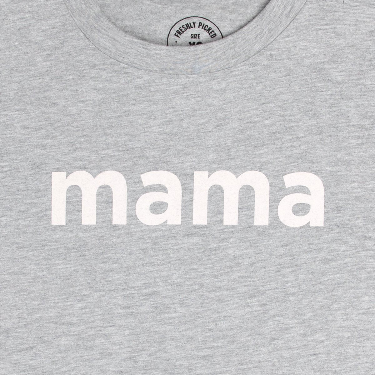 Mama Heather Grey Slub Tee