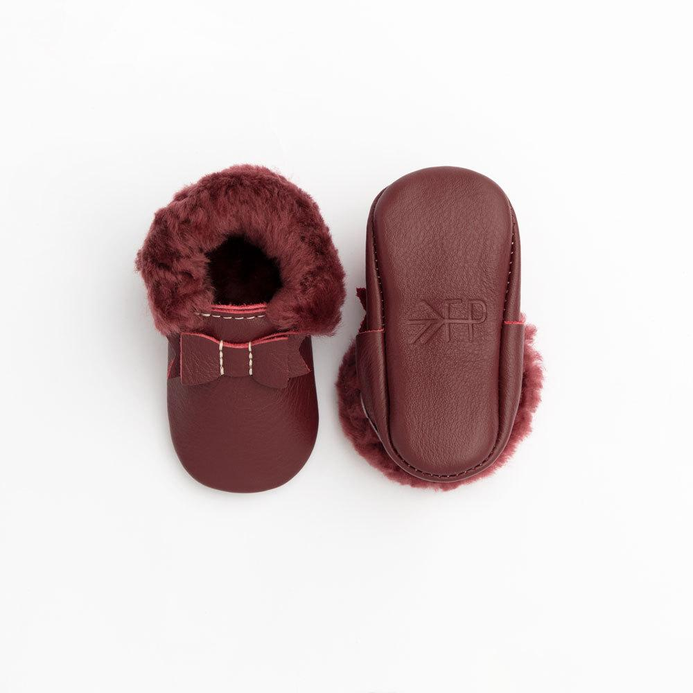 Merlot Shearling Bow Mocc Shearling Bow Mocc Soft Soles