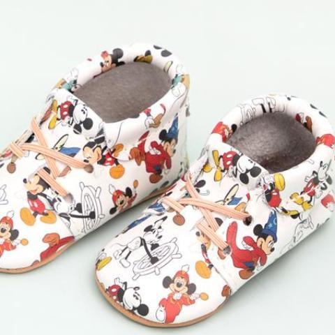 Mickey Allover Oxford Oxford Soft Soles