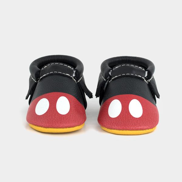 Mickey Style Moccasins Soft Soles