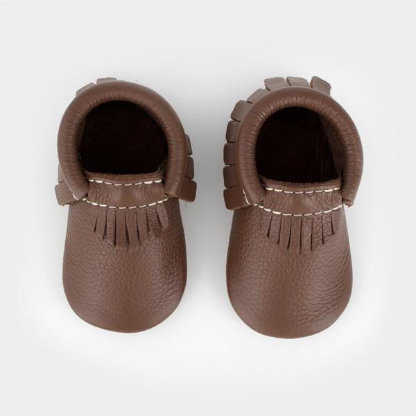 Milk Chocolate Moccasins Soft Soles