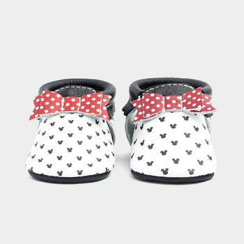 Mini Minnies Bow Mocc Bow Moccasins Soft Soles