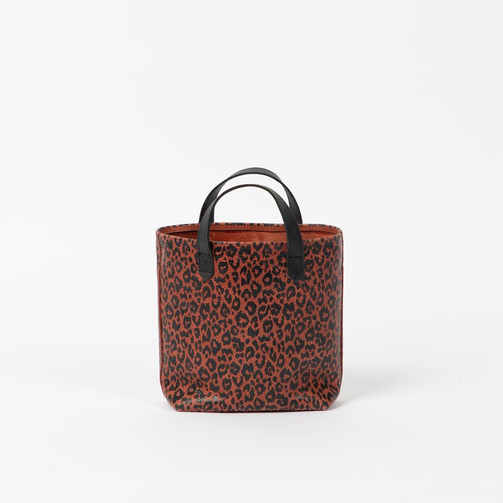 Moab Leopard Leather Mini Tote Bags Lindon Bags
