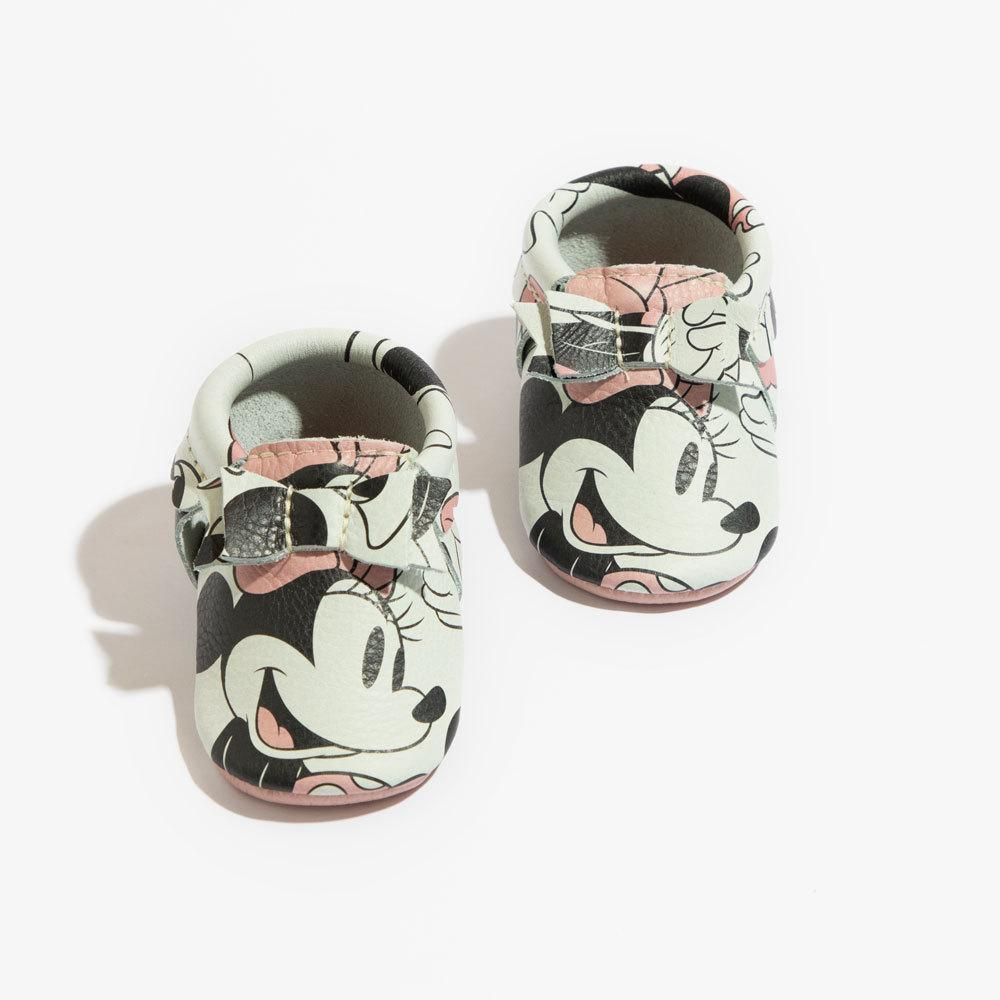 Minnie Mouse Bow Mocc Mini Sole Bow Moccasins mini sole