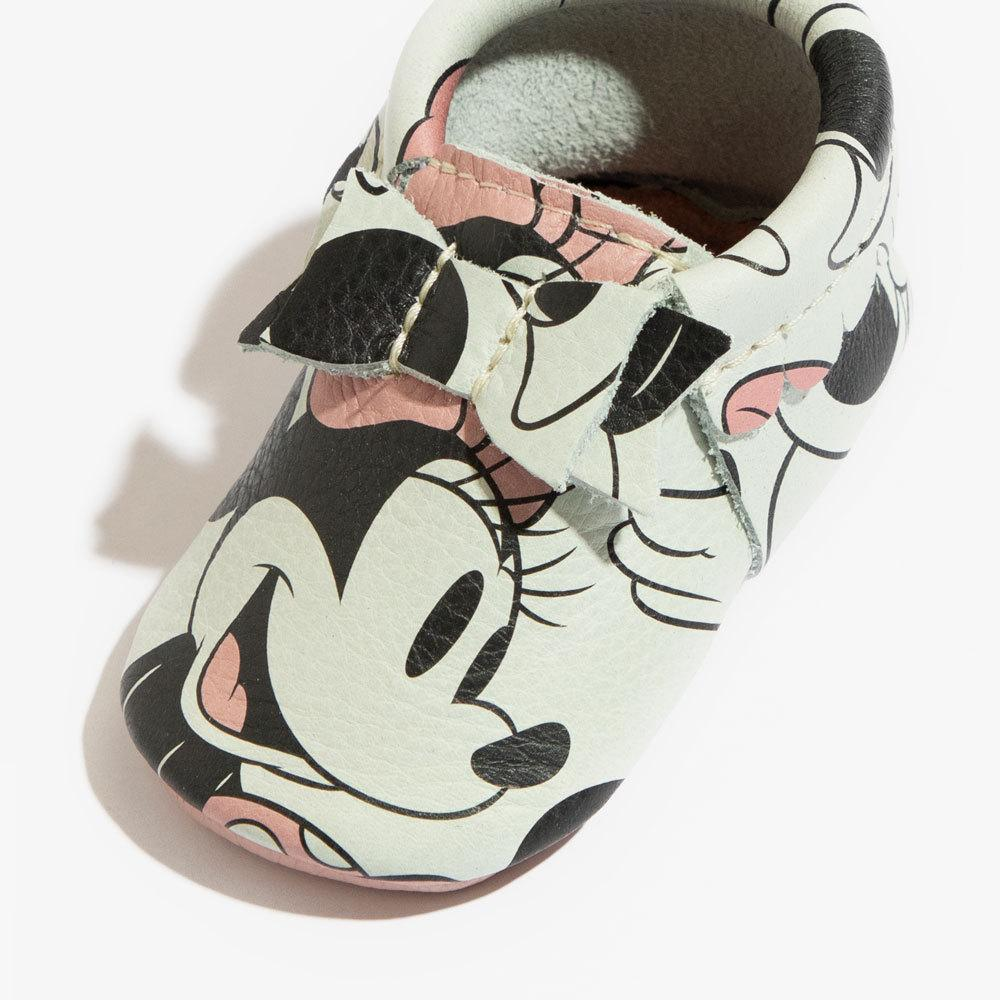Minnie Mouse Bow Mocc Bow Moccasins Soft Soles