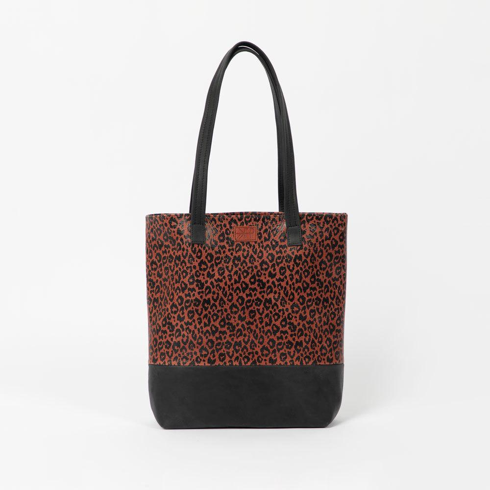 Moab Leopard Leather Tote Bags Lindon Bags
