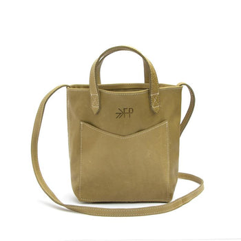 Moss Green Leather Mini Tote Leather Tote Bags