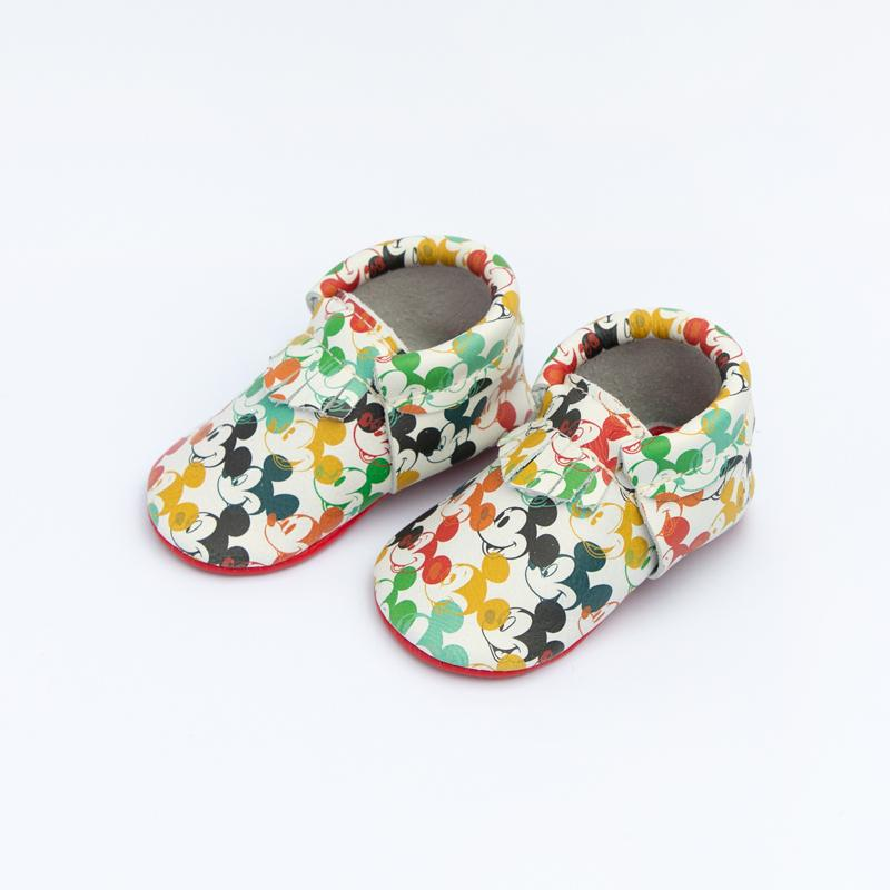 Multi-color Mickey City Mocc City Moccs Soft Soles