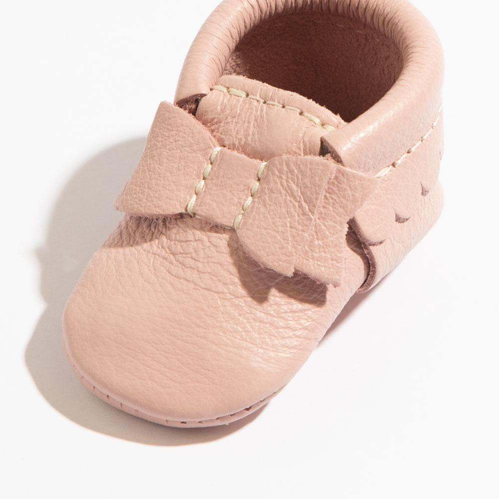 Newborn Blush Bow Mocc Newborn Bow Mocc Newborn
