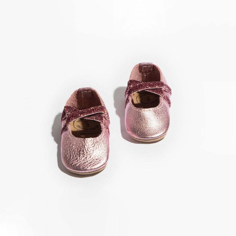 Newborn Frosted Rose Ballet Slipper Ballet Slipper Newborn