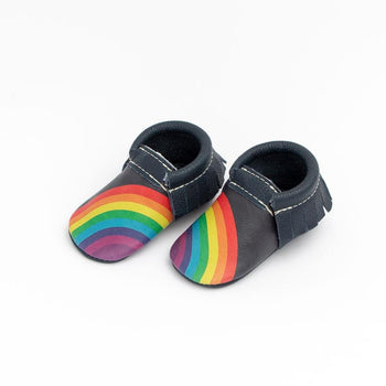 Navy Rainbow On Your Toes