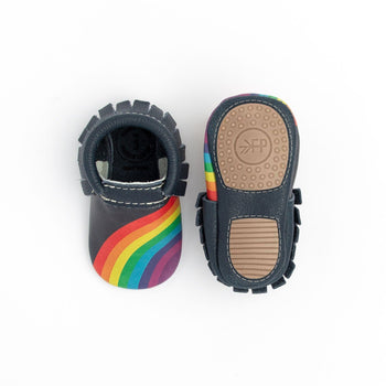 Navy Rainbow On Your Toes Mini Sole